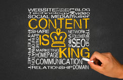 Content is king Royalty Free Stock Photo