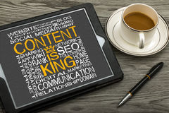 Content is king Royalty Free Stock Photography