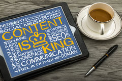Content is king. On touch screen stock photography