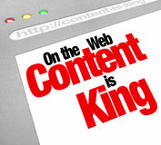 Content Is King Website Screen Increase Traffic More Articles Fe Stock Photography
