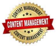 content management badge vector illustration
