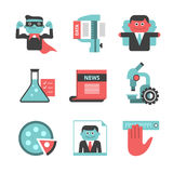 Content management flat icons set. Part 2 Stock Photos