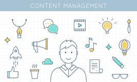 Content Management and Marketing Illustration Stock Photography