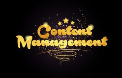 content management star golden color word text logo icon royalty free stock images