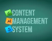 Content Management System. Illustration design over a white background vector illustration