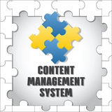 Content management system. CMS. Royalty Free Stock Photos