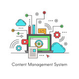 Content Management System CMS Royalty Free Stock Image