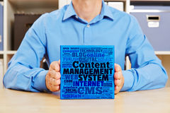 Content Management System concept Stock Photo