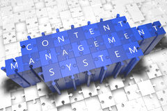 Content Management System Royalty Free Stock Image