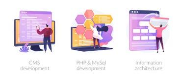 Backend Development vector concept metaphors.