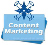 Content Marketing Bottom Squares Royalty Free Stock Photography