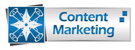 Content Marketing Button Style Stock Image