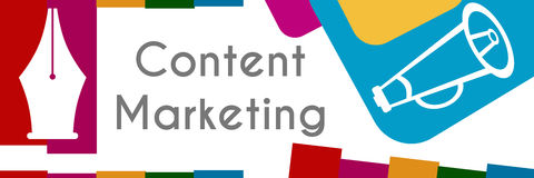 Content Marketing Colorful Banner Royalty Free Stock Photos