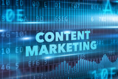Content marketing concept Stock Image