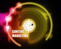 Content Marketing concept plan graphic. Background Royalty Free Stock Image