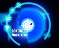 Content Marketing concept plan graphic. Background Royalty Free Stock Photo