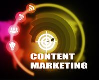 Content Marketing concept plan graphic. Background Royalty Free Stock Photography