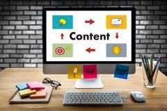 Content marketing Content Data Blogging Media Publication Inform. Ation Vision Concept Stock Photography
