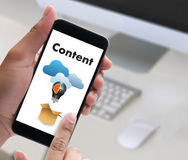 content marketing Content Data Blogging Media Publication Inform Royalty Free Stock Photography
