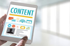Content marketing Content Data Blogging Media Publication Inform Royalty Free Stock Images