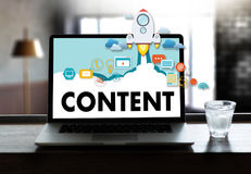 Content marketing Content Data Blogging Media Publication Inform. Ation Vision Concept Royalty Free Stock Photo