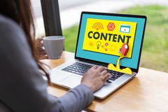 CONTENT marketing Data Blogging Media Publication Information Vi royalty free stock photos