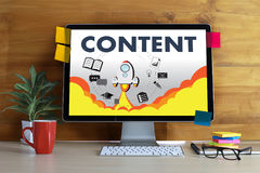 CONTENT marketing Data Blogging Media Publication Information Vi. Sion Content Concept Royalty Free Stock Image