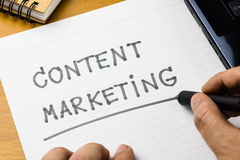 Content Marketing Royalty Free Stock Images
