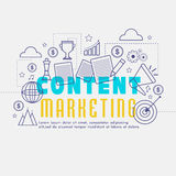Content Marketing Infographic elements. Stock Photo