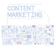 Content Marketing Infographics. Vector Illustration Royalty Free Stock Photo