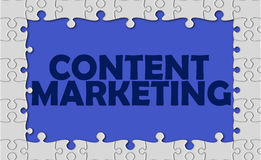 Content marketing with jigsaw border Royalty Free Stock Image