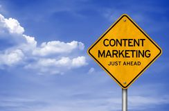 Content Marketing - just ahead Stock Photos