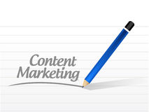 Content marketing message illustration design Royalty Free Stock Photos