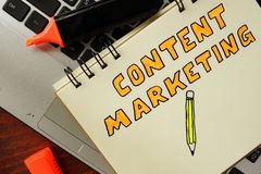 Content marketing Stock Photography