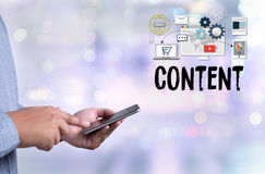 Content marketing, online concept , Content Data Blogging Media. Publication Content marketing , Content Strategy digital content and online webinar , Media Stock Photography