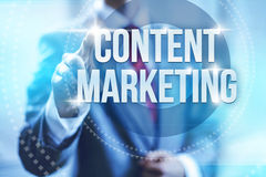 Content marketing. Retaining customers concept illustration Stock Image