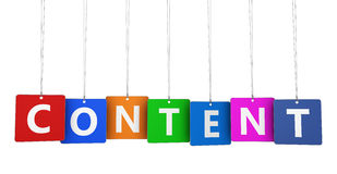 Content Marketing Sign On Tags Stock Image