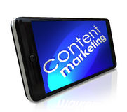 Content Marketing Smart Cell Phone Mobile Outreach Stock Images