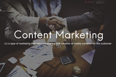 Content Marketing Social Media Advertising Commercial Branding C Royalty Free Stock Photos