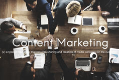 Content Marketing Social Media Advertising Commercial Branding C. Business People Content Marketing Social Media Graphic Concept royalty free stock images
