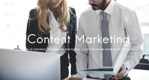 Content Marketing Social Media Advertising Commercial Branding C Stock Photography