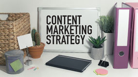 Content marketing. Strategy business concept in office royalty free stock photos