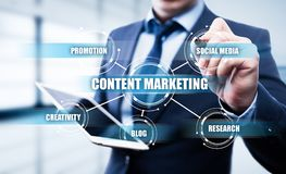 Content Marketing Strategy Business Technology Internet Concept Stock Photography