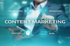 Content Marketing Strategy Business Technology Internet Concept Stock Photo