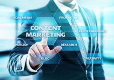 Content Marketing Strategy Business Technology Internet Concept Royalty Free Stock Photography