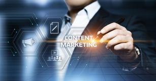 Content Marketing Strategy Business Technology Internet Concept.  Royalty Free Stock Photo