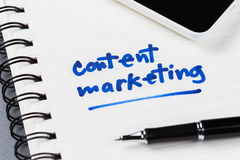 Content Marketing Stock Image