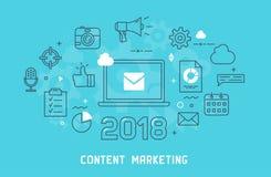 Content marketing thin line illustration Stock Photo