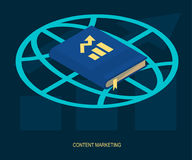 Content marketing web solution vector Royalty Free Stock Photo