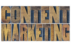 Content marketing word abstract Stock Images